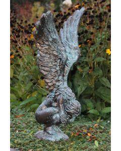"""Hockende Engelfrau """"RACHEL"""", Bronze Optik"""