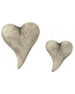Knubbel-Herz aus Steinguss, gross