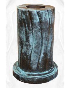 geschwungene Säule,rund,Bronze Optik (f. 116040)