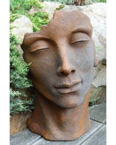 """Gesicht """"MANN"""", Steinguss, Edition Oxid, klein"""