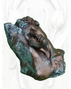 Büste Endymion, Steinguss, Bronze Optik