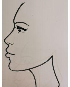 Schatten-Gesicht Frau, Metall, mittel, schwarz